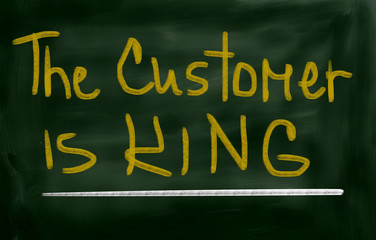 The Customer Is King Concept