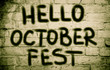 canvas print picture - Hello October Fest Concept
