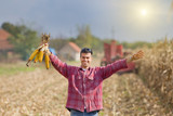 Man in corn field