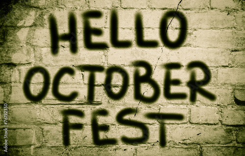canvas print picture Hello October Fest Concept