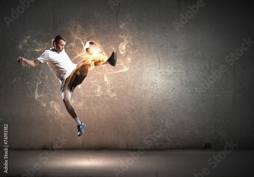 canvas print picture Football player