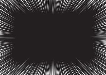 Radial Speed Lines frame white black