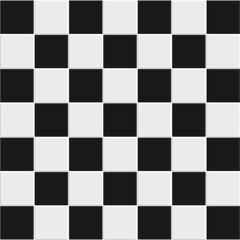 Vector seamless black and white tiles
