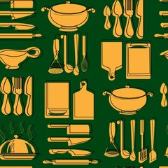 kitchen pattern. vector illustration