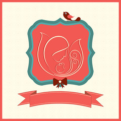 Greeting card design for Baby Shower.