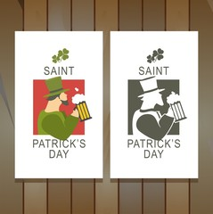 Template flyer St. Patrick's Day