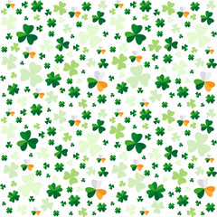 Seamless pattern from clover leaves