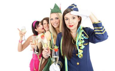 Freunde und Spaß im Karneval