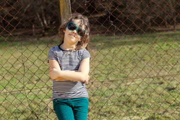 little girl with glasses fashion