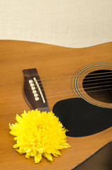 Part of acoustic guitar