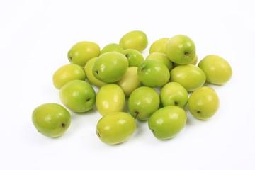 Jujube fruit on white background