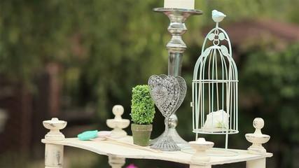 Wedding decoration of wedding ceremony