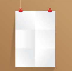 white paper on wall vector