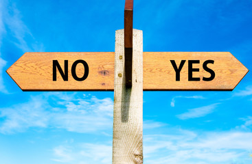 YES and No messages, Decisional conceptual image