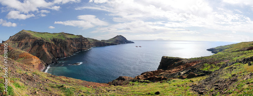 Leinwanddruck Bild Panorama of the east coast of Madeira