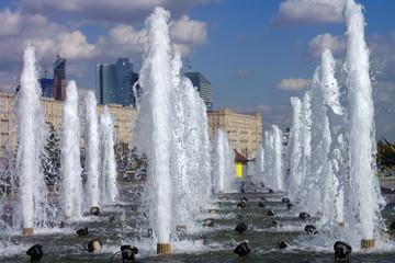 fountain on street