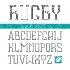 Serif font medium in the sport style