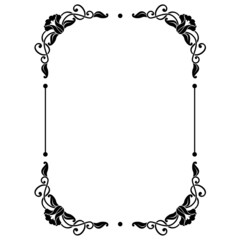 decorative rectangular frame with floral ornament