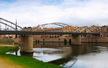 Bridge called Pont de l'Estat over Ebre  in Tortosa
