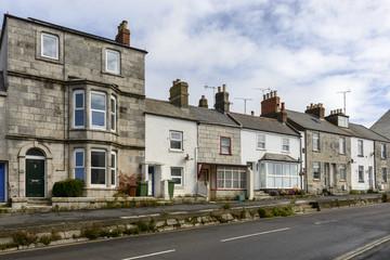 downhill street at Portland, Dorset