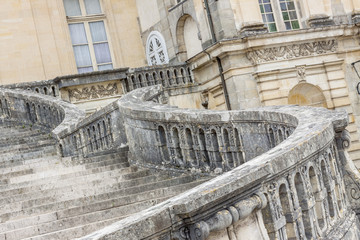 Stairs to Royal hunting castle  in Fontainebleau, France.