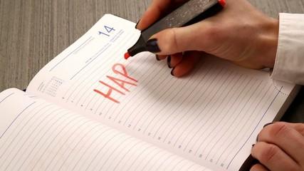 elegant hand writing happy birthday