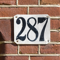 house number 287