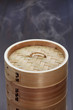 dim sum, chinese food in bamboo steamer, unknown contents