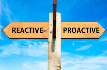 Reactive versus Proactive messages