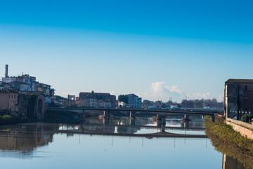 Ponte della Cittadella, lungarni di Pisa
