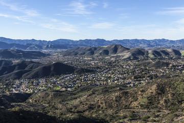 Thousand Oaks California Mountain Top View
