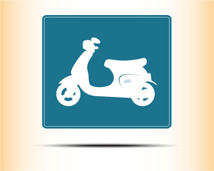 Scooter icon, vector illustration