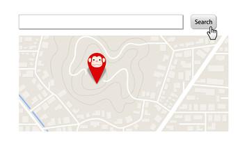 サルと地図