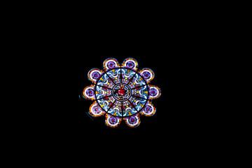 Rose window at Basilica Sacre Coeur
