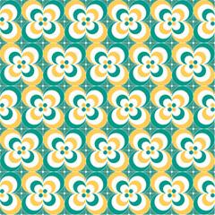 Seamless colorful ornamental pattern