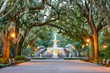 Leinwanddruck Bild - Forsyth Park in Savannah, Georgia, USA