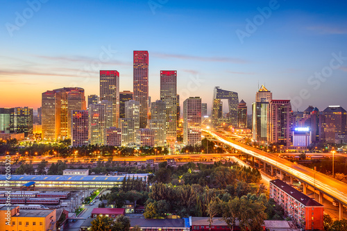 Foto op Canvas Beijing Beijing, China CBD Skyline
