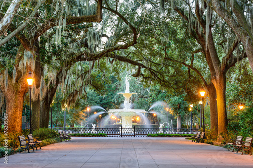 Forsyth Park in Savannah, Georgia, USA © SeanPavonePhoto