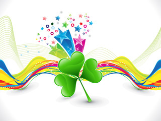 abstract colorful artistic st patrick background