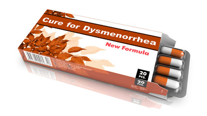 Cure For Dysmenorrhea Brown Open Blister Pack.