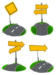 Set of Blank Road Sign Concepts.