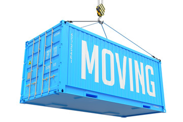 Moving - Blue Hanging Cargo Container.
