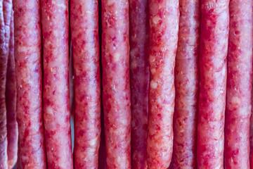 pork chinese sausage stacked