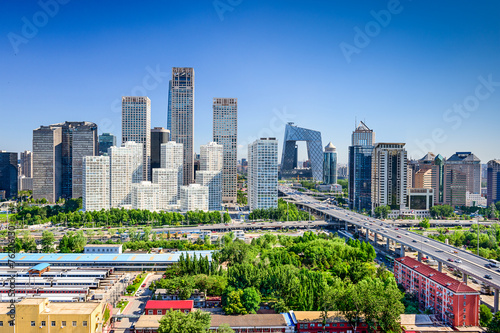 Foto op Canvas Beijing Beijing China FInancial District Skyline