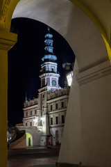 Zamosc at night - Poland.
