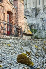 Fragment of village - France,  Mont Saint Michel