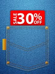 sale thirty percentage off