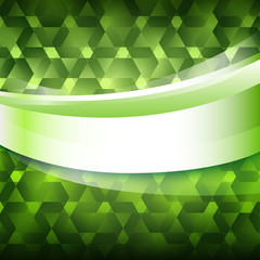 new product label green glowing background