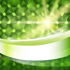 new product label green glowing background sun