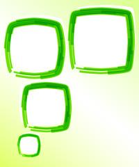 Template-flyer-green-bubble-effect-paint-brush-blank